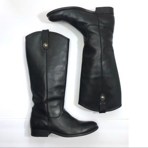 Frye Melissa Button Black Riding Boots- Size 8